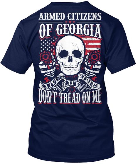 Armed Citizensof Georgia Navy T-Shirt Back