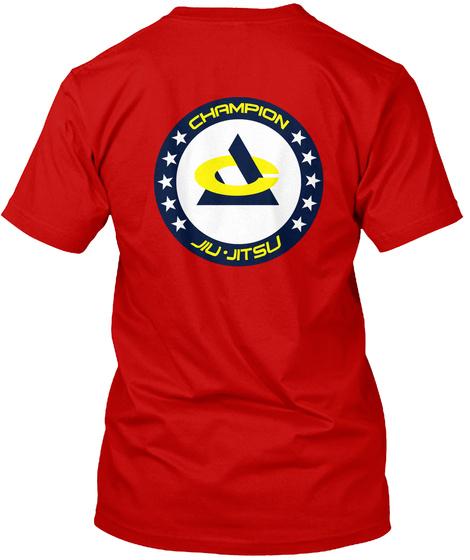 Champion Jiu Jitsu T Shirts Classic Red T-Shirt Back