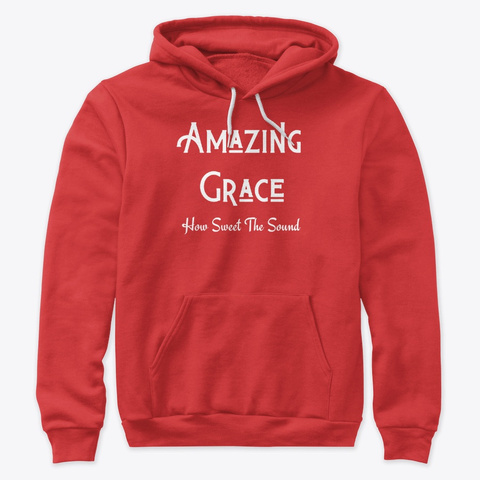 Amazing Grace In Color Red T-Shirt Front