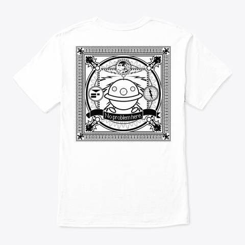 Conscious Bound Ii Contrast White T-Shirt Back