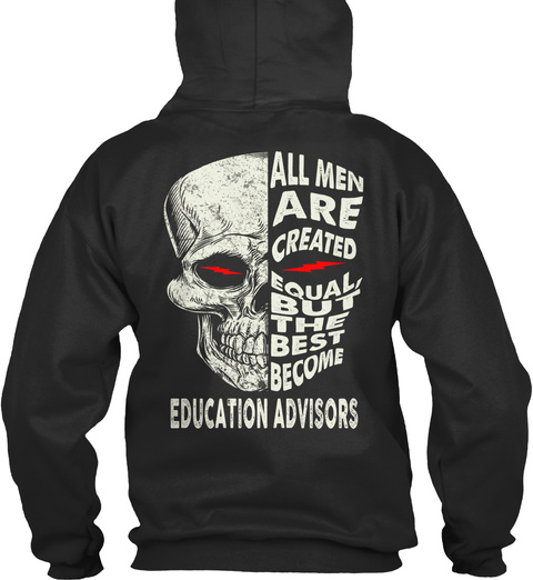 Education Advisors Jet Black T-Shirt Back
