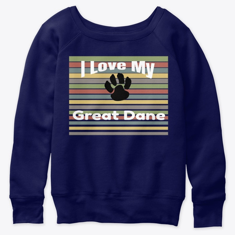 I Love My Great Dane Navy  T-Shirt Front