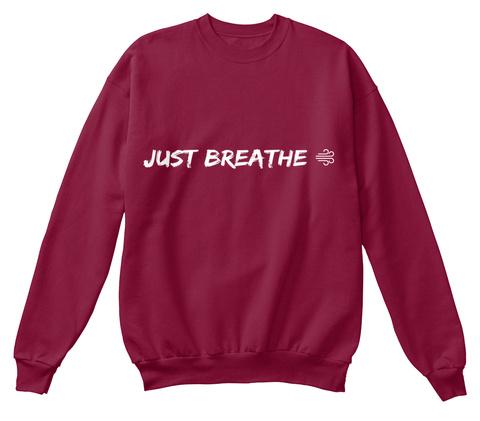Just Breathe Cardinal  T-Shirt Front