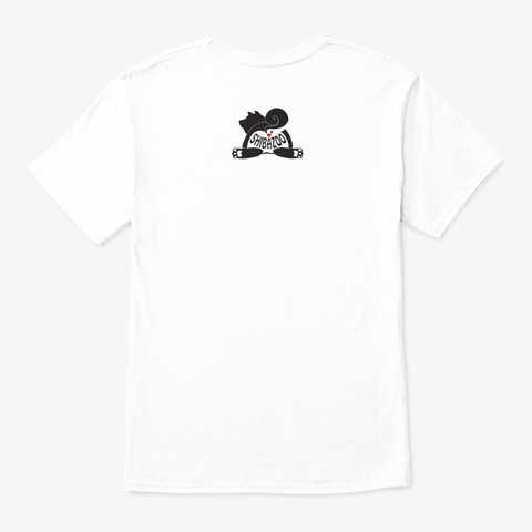Shibazoo! Logo White T-Shirt Back