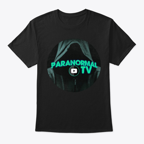 Paranormal Tv  Black T-Shirt Front