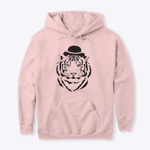 Cool Tiger T Shirt. Light Pink T-Shirt Front