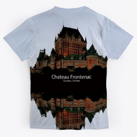 Chateau Frontenac Medium Grey T-Shirt Back