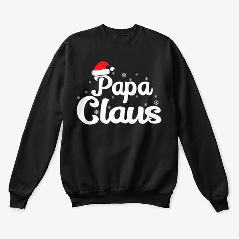 Papa Claus Christmas Family T Shirt Black T-Shirt Front