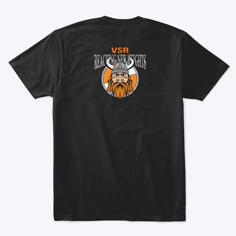 Vsr Viking  Black T-Shirt Back