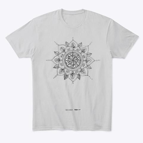 Lucky Mandalas Apparel Light Heather Grey  T-Shirt Front