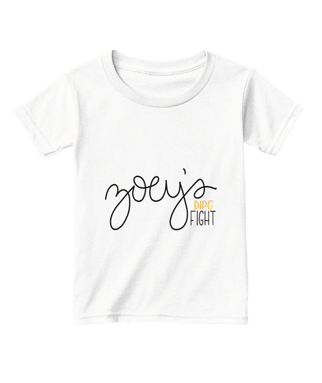 Zoey's Fight    Toddler White  T-Shirt Front