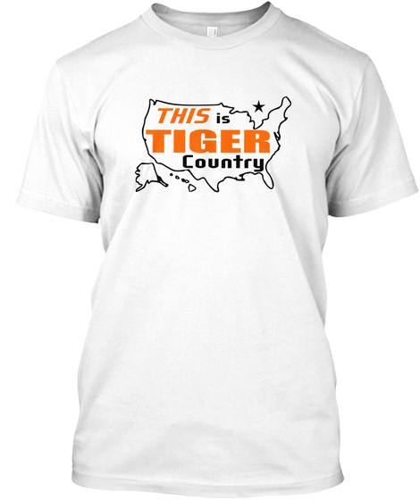 This Is Tiger Country White T-Shirt Front