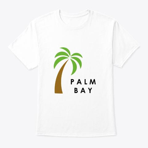 Palm Bay White T-Shirt Front
