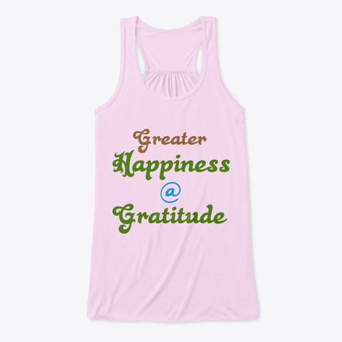 Gratitude (Typography) Soft Pink T-Shirt Front