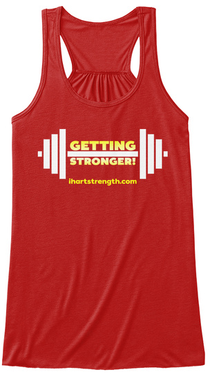 Getting Stronger   Yellow Gradient Red Women's Tank Top Front