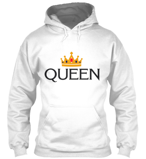 King And Queen Couples 39 White T-Shirt Front