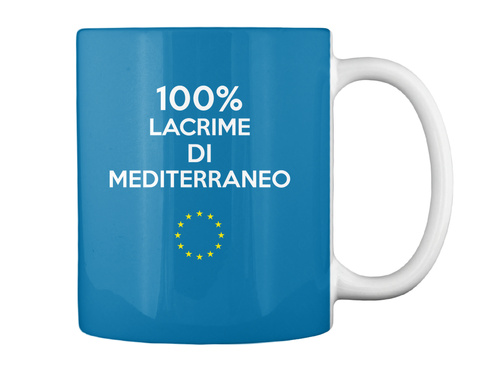 100% Lacrime Di Mediterraneo Royal Blue T-Shirt Back