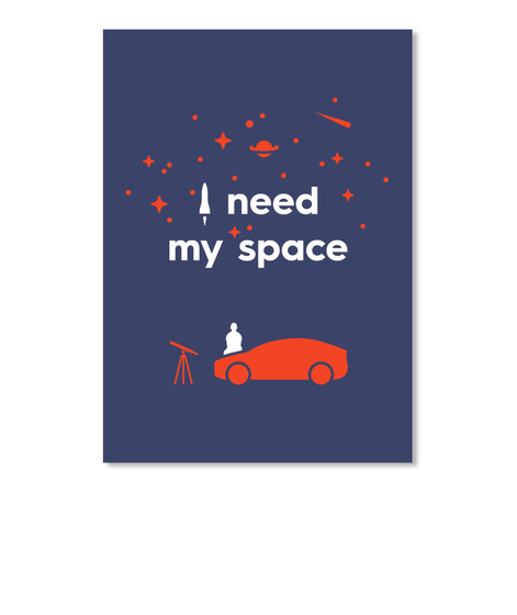 My Space Car Sticker [Int] #Sfsf Dark Navy Sticker Front