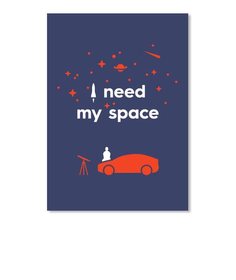 My Space Car Sticker [Int] #Sfsf Dark Navy Sticker Front