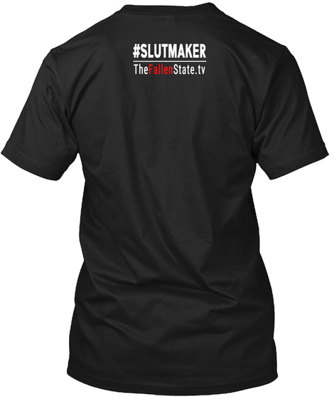 Sl*Tmaker Fallen State T Shirt Black T-Shirt Back