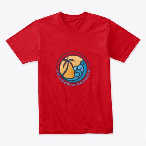 #Island State Of Mind Red T-Shirt Front