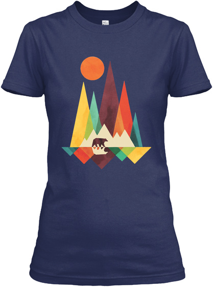 The Wilderness Navy Women's T-Shirt Front