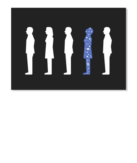 Stargazer Woman Sticker [Int] #Sfsf Black Sticker Front