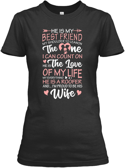 Roofer He Is My Love Shirt Black Maglietta Front