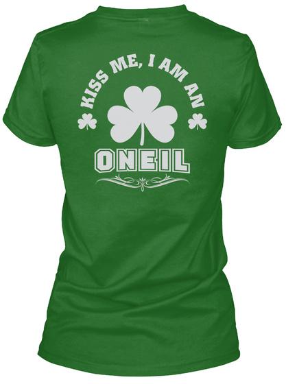 Kiss Me I Am Oneil Thing T Shirts Irish Green T-Shirt Back