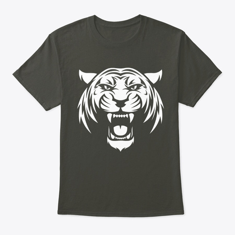 Graphic Tiger Smoke Gray T-Shirt Front
