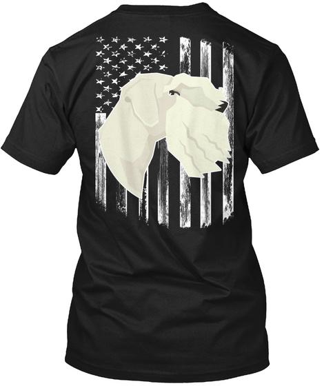 American Flag Sealyham Terrier 4th July Black T-Shirt Back