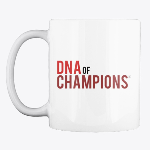 Dna Of Champions White T-Shirt Front