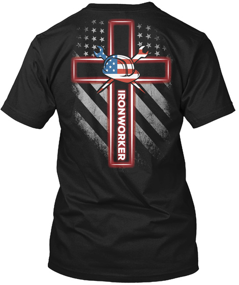 Ironworker Black T-Shirt Back