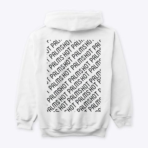 Hot Palms Design Hoodie White T-Shirt Back
