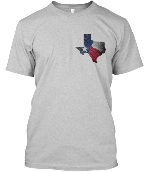 Texas Breakthrough Light Steel T-Shirt Front