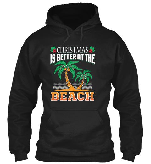 Cute Christmas T Shirt Christmas Is Bett Black T-Shirt Front