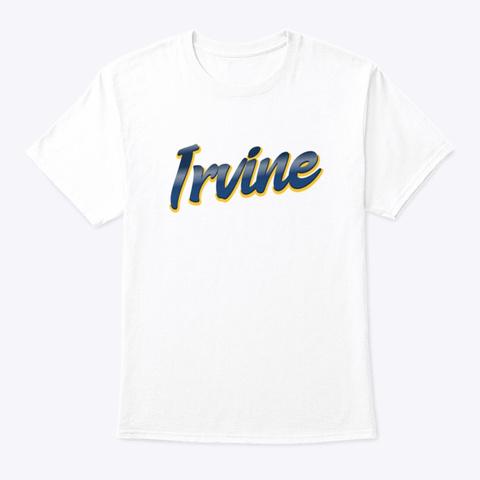 Irvine   Dark Blue And Yellow White T-Shirt Front