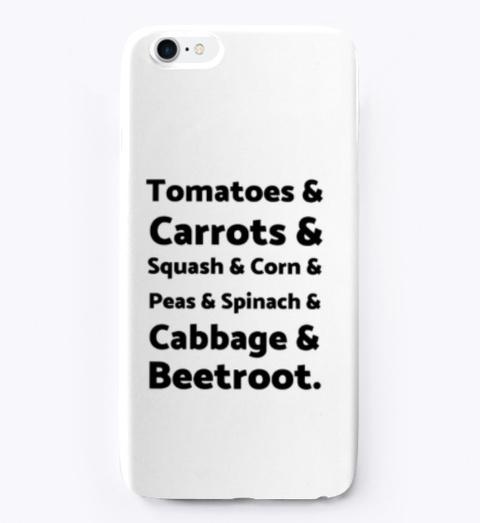 List Of Vegetables Standard T-Shirt Front