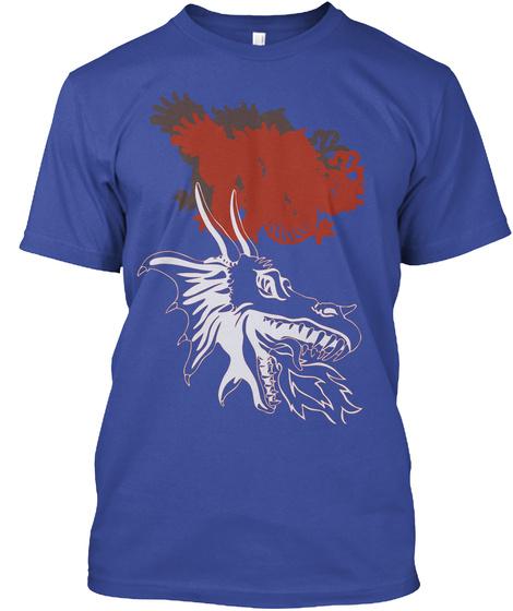 Hawk Deep Royal T-Shirt Front
