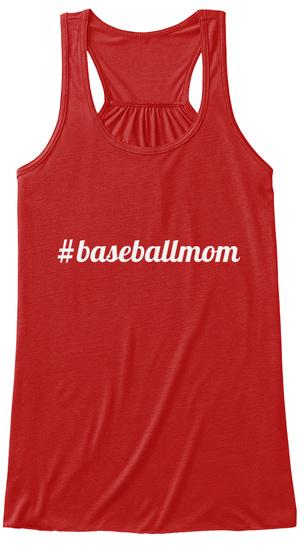 #Baseballmom Red T-Shirt Front