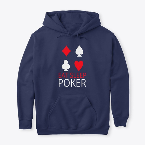 Eat Sleep Poker Navy T-Shirt Front