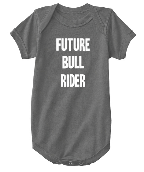 Future Bull Rider Charcoal T-Shirt Front
