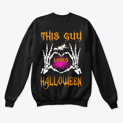 This Guy Loves Halloween 2019 Black T-Shirt Front