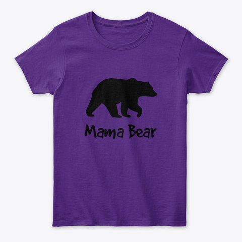 Mama Bear Purple T-Shirt Front