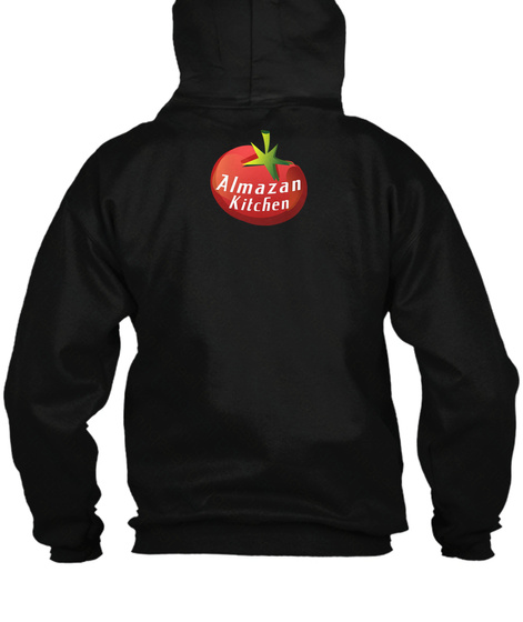 Almazan Kitchen Black Sweater Lengan Panjang Back