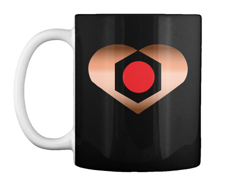The Copperheart Teaser Mug Black Mug Front