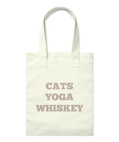 Cats Yoga Whiskey Natural Jute-Beutel Front c6256e97af90d