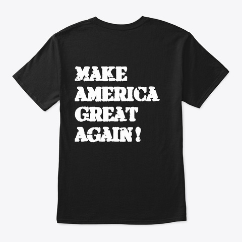 Trump 2020 Word Cloud Silhouette Design Black T-Shirt Back