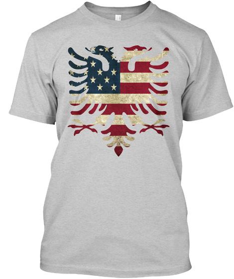 Albanian T Shirt  Light Steel T-Shirt Front