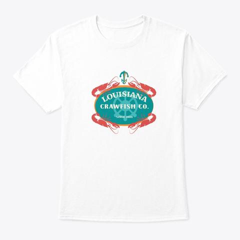 Crawfish Co Retro Louisiana Cajun Seafoo White T-Shirt Front